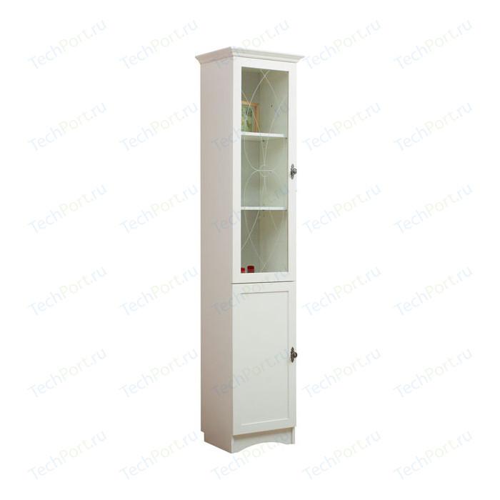 Шкаф для книг Сильва НМ 009.08-01 прованс белый