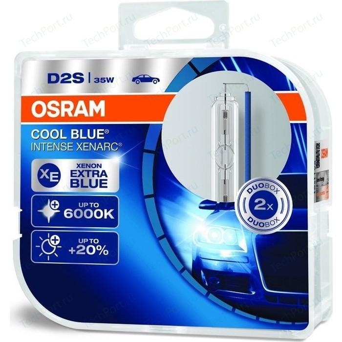 Ксеноновые лампы Osram D2S XENARC COOL BLUE INTENSE, 6000К, 85V, 35W, 2 шт, 66240CBI-HCB