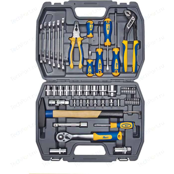 Набор инструментов Kraft 1/2 Dr и 1/4 56 предметов (KT 700303)