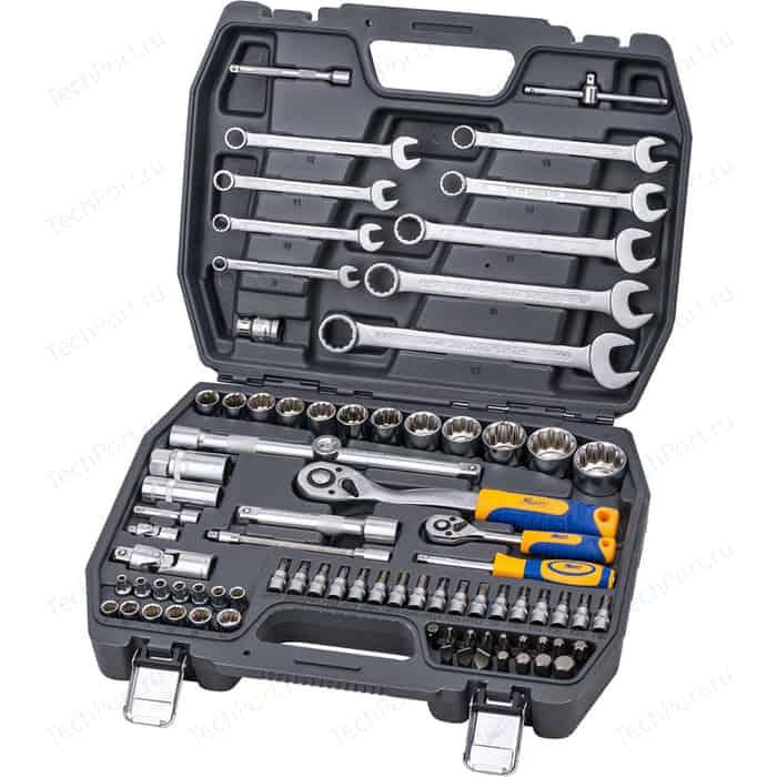 Набор инструментов Kraft 1/2 Dr и 1/4 82 предмета с головками (KT 700681)