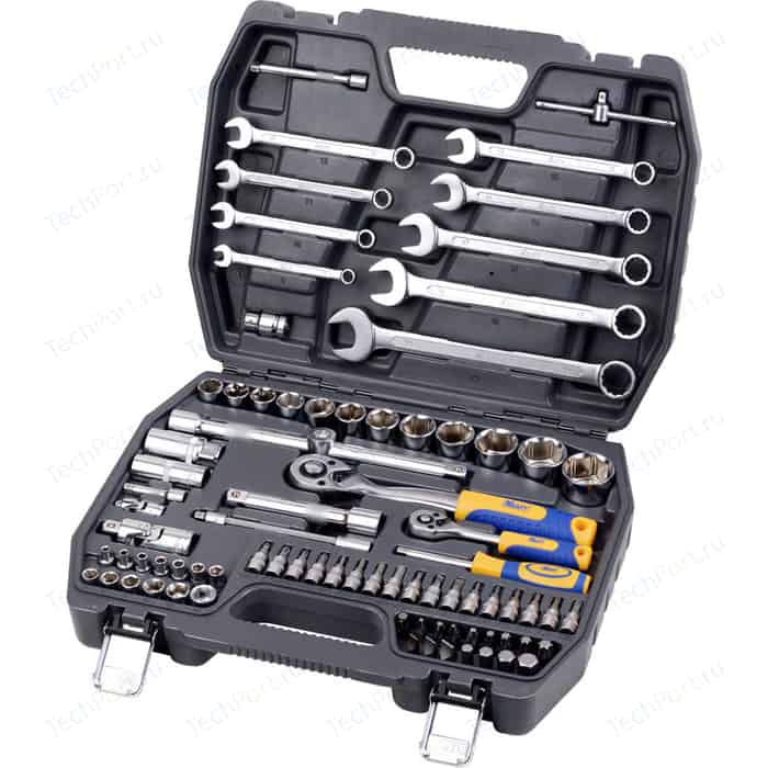 Набор инструментов Kraft 1/2 Dr и 1/4 82 предмета (KT 700305)