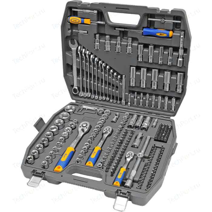 Набор инструментов Kraft 1/2 Dr, 3/8 Dr и 1/4 218 предметов (KT 700684)