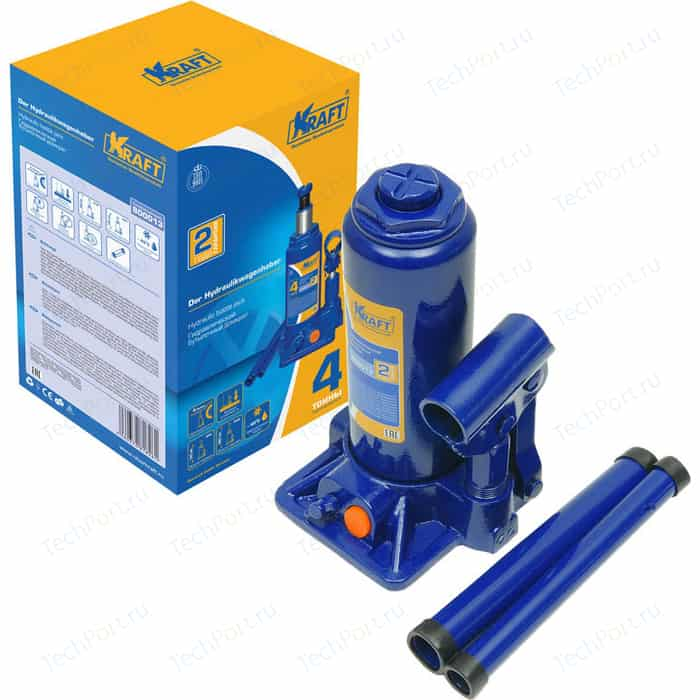 Домкрат бутылочный гидравлический Kraft 4т 195-380мм (KT 800013)