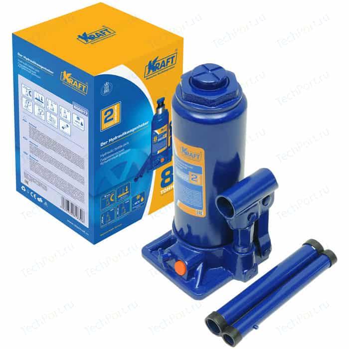 Домкрат бутылочный гидравлический Kraft 8т 230-465мм (KT 800017)