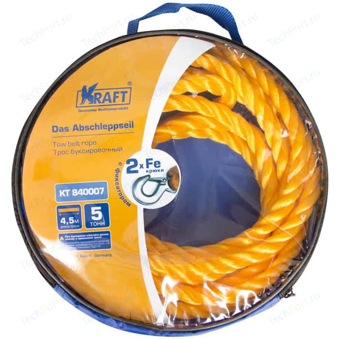 Трос буксировочный Kraft канатный 4,5м, 5т (KT 840007) лебедка sparta 1 5т