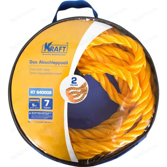 Трос буксировочный Kraft канатный 5м, 7т (KT 840008)