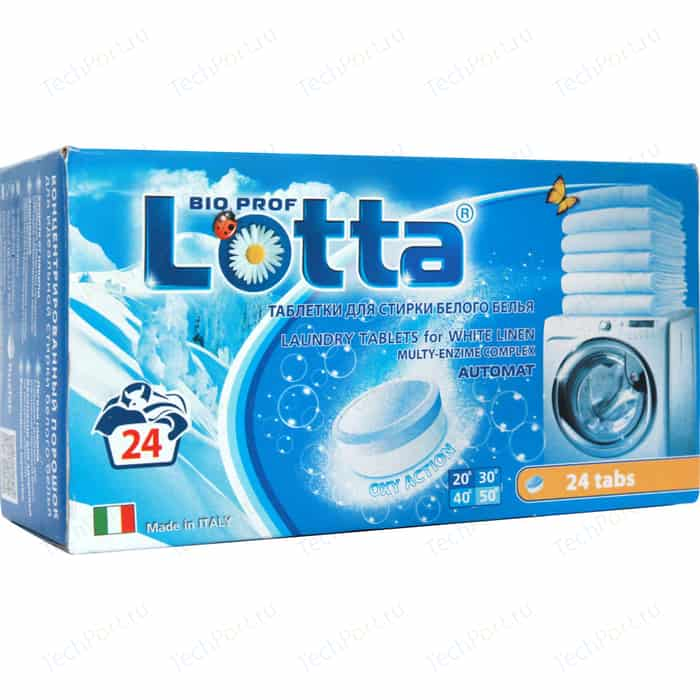 Таблетки LOTTA для стирки белого белья 24 шт