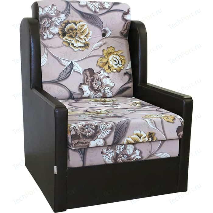 Кресло-кровать Шарм-Дизайн Классика Д экокожа+велюр цветы