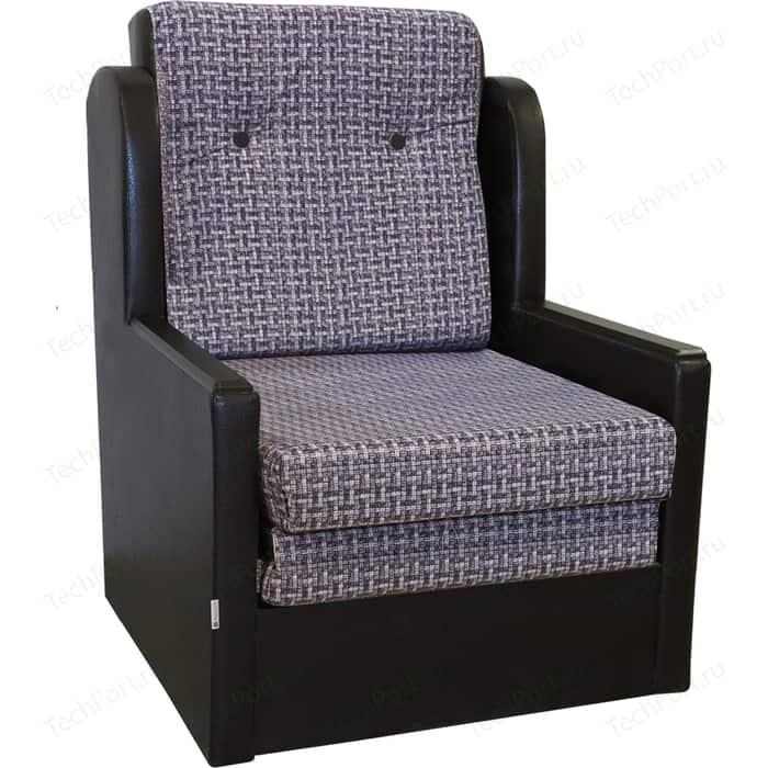 Кресло-кровать Шарм-Дизайн Классика Д экокожа+серый велюр
