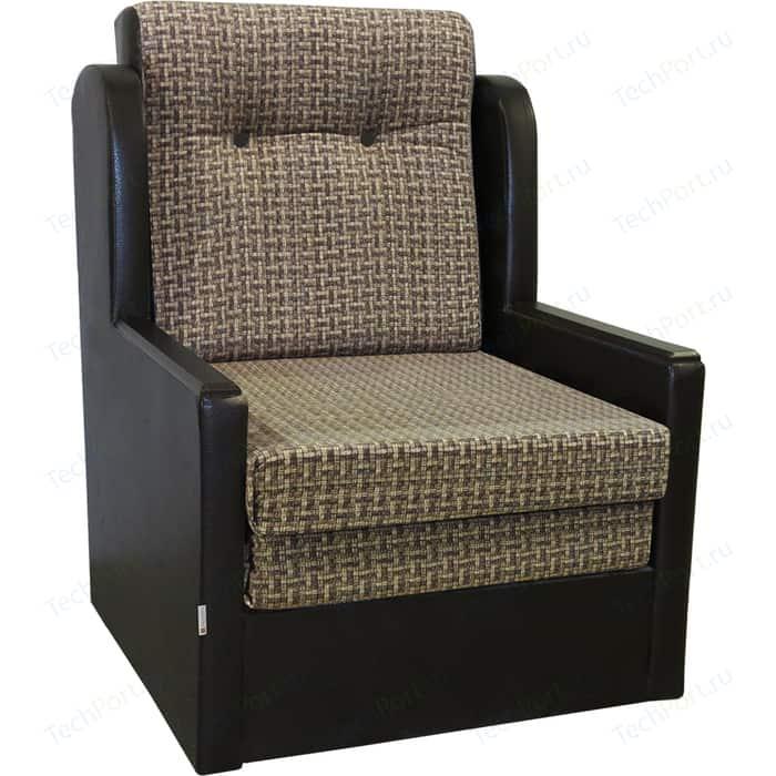 Кресло-кровать Шарм-Дизайн Классика Д экокожа+коричневый велюр
