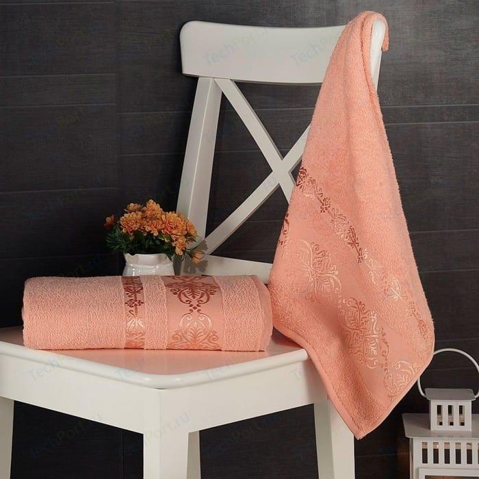 Набор из 2 полотенец Karna Esra (50X90/70X140) (1687/CHAR005) Розовый