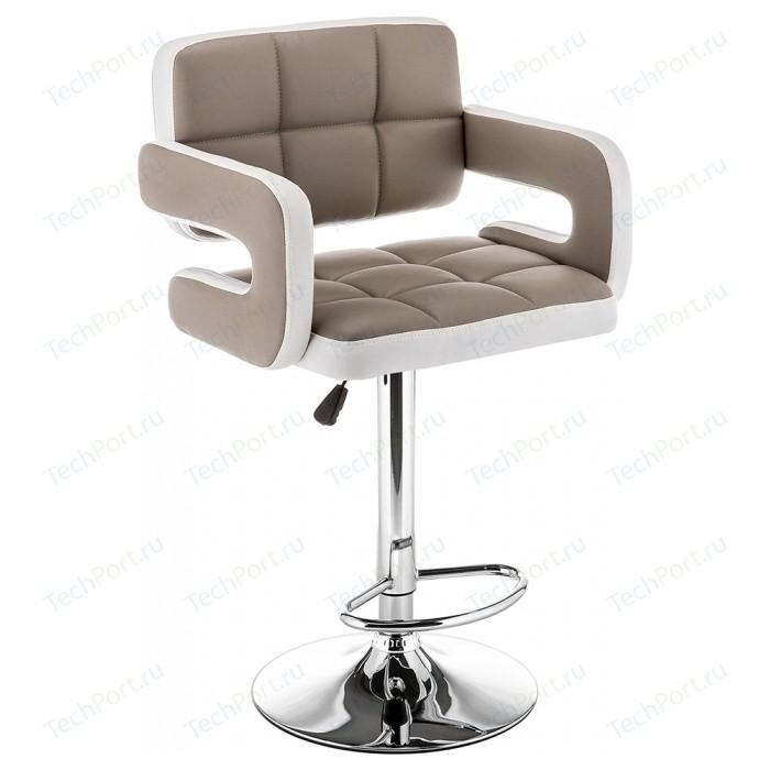 Барный стул Woodville Bent бежевый/белый