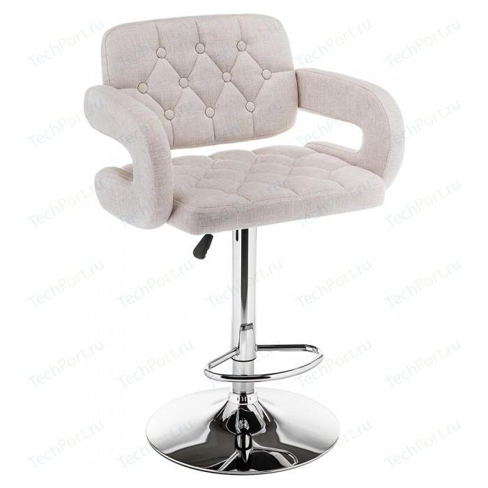 Барный стул Woodville Shiny ткань cream