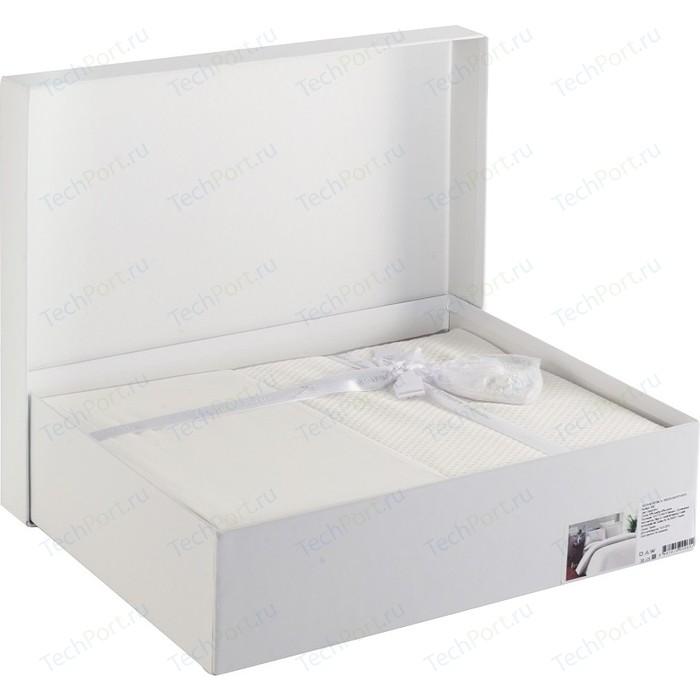Комплект постельного белья Karna Евро, бамбук/хлопок, Ruya (3092/CHAR006) Пудра