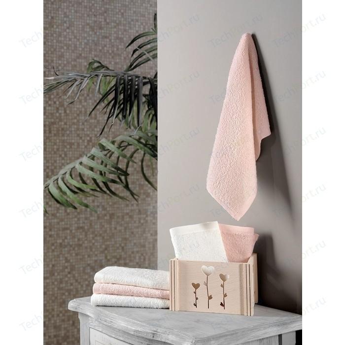 Набор кухонных полотенец 6 штук Karna Flori (30X50) (5113/CHAR006) Персиковый