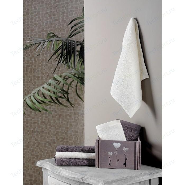 Набор кухонных полотенец 6 штук Karna Flori (30X50) (5113/CHAR004) Коричневый