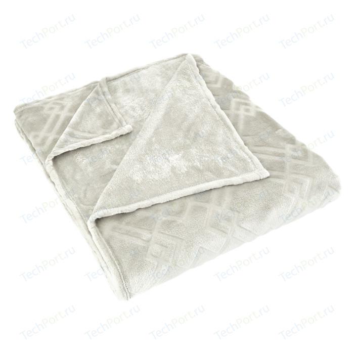 Плед Karna вельсофт жаккард Piramit 220x240 см (5119/CHAR004) Синий
