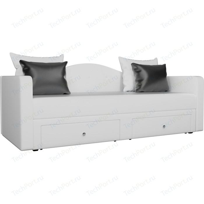 Детский прямой диван АртМебель Дориан экокожа белый