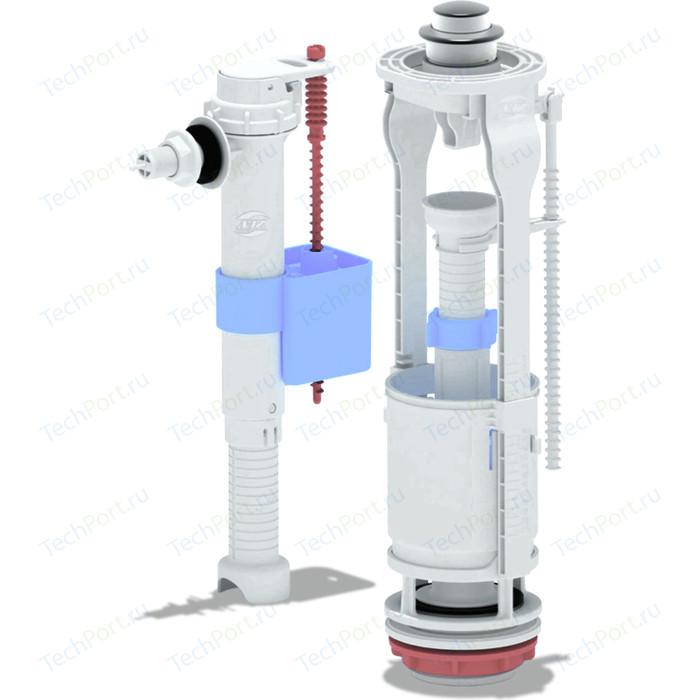 Арматура с боковой подводкой АНИ пласт 3/8 пластиковым штуцером кнопка хром (WC8030C)