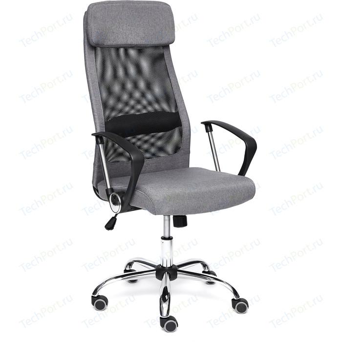 Кресло TetChair PROFIT ткань, серый/черный