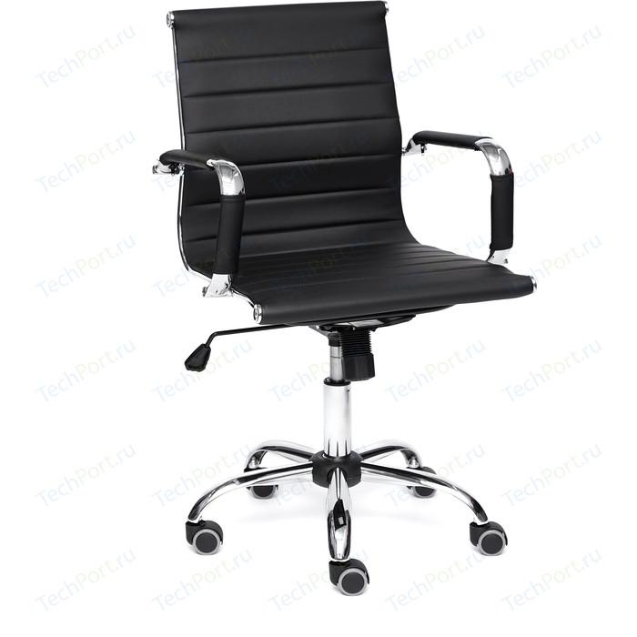 Кресло TetChair URBAN-LOW кож/зам, черный