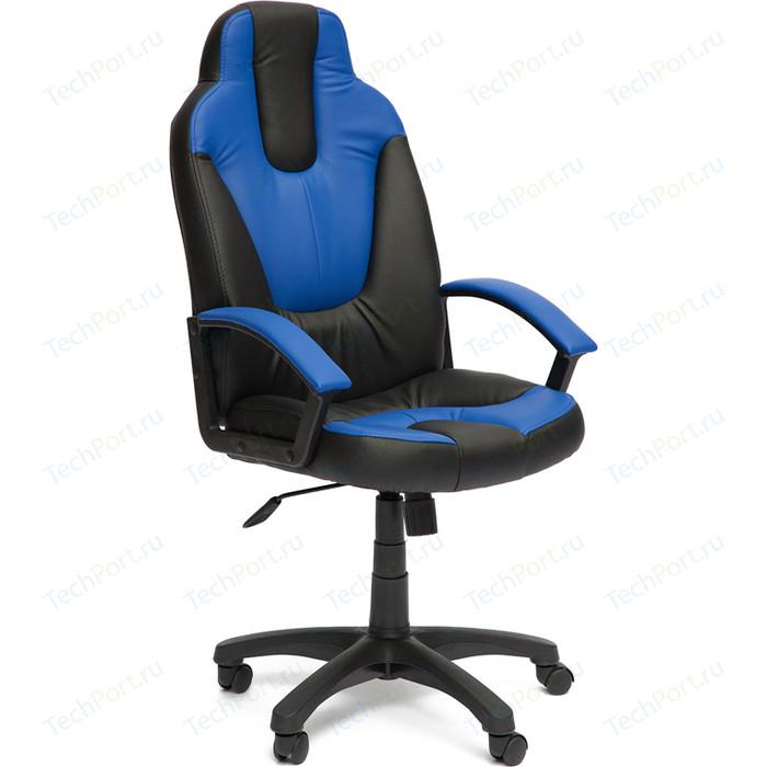 Кресло TetChair NEO (2) кож/зам, черный/синий, 36-6/36-39