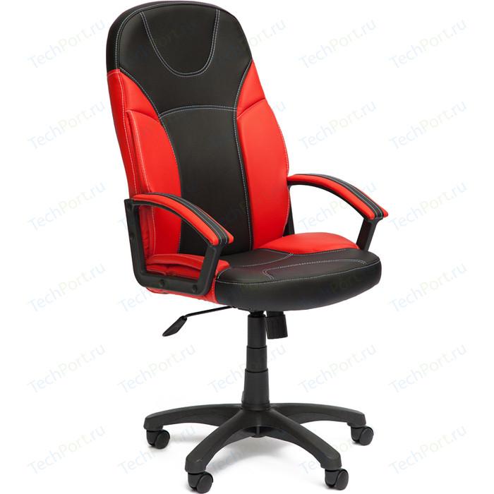 Кресло TetChair TWISTER кож/зам, черный/красный, 36-6/36-161