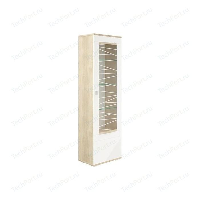 Шкаф - пенал Олимп 06.110 Алабама дуб сонома/белый глянец правый