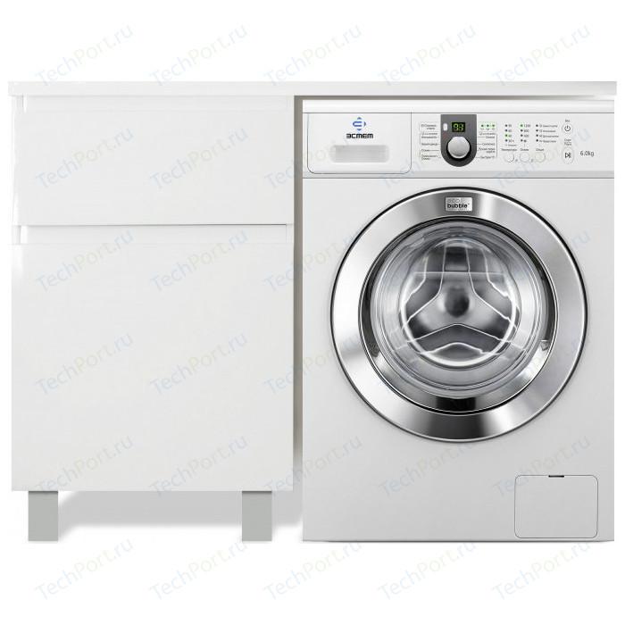 Тумба с раковиной Эстет Даллас Люкс 100L напольная, под стиральную машину, белая (ФР-00002315)