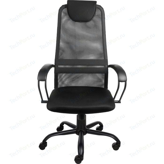 Кресло Алвест AV 142 ML (142) МК кз/TW- сетка/сетка однослойная 311/455/470 черное/черное/черное