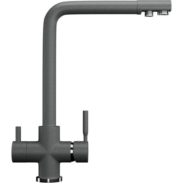 Смеситель для кухни Ulgran U-016 с подключением к фильтру, темно-серый (U-016-309)