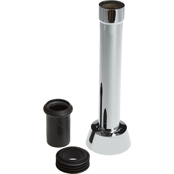Удлинитель колена смыва Geberit для встраивамого бачка, 25 см, хром (118.026.21.1)
