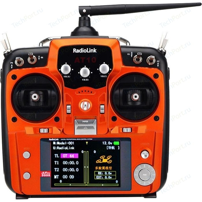 Аппаратура управления RadioLink AT10II 12-ти канальная 2,4 Ghz - RL-AT10II-R12DS