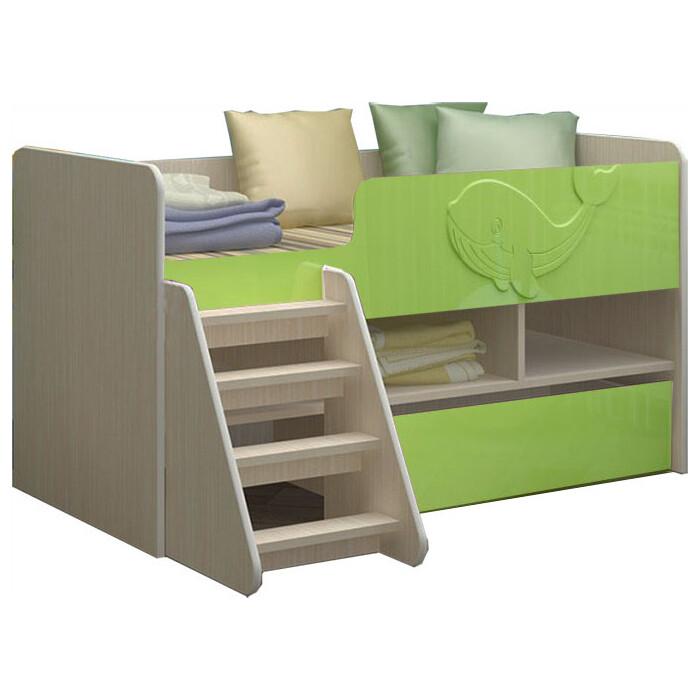 Детская кровать Регион 58 Юниор-3 МДФ салатовый 70x140