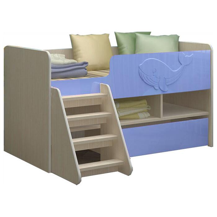 Детская кровать Регион 58 Юниор-3 МДФ голубой 70x140
