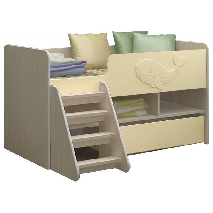 Детская кровать Регион 58 Юниор-3 МДФ ваниль 70x140