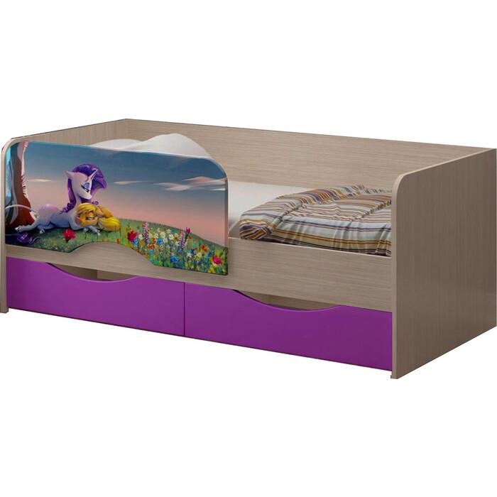 Детская кровать Регион 58 Юниор-12 МДФ Единорог 80x160