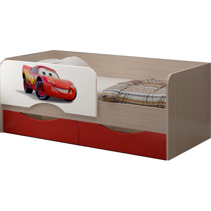 Детская кровать Регион 58 Юниор-12 МДФ тачки 80x160