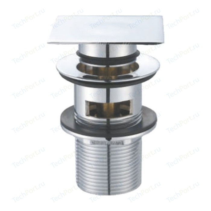 Донный клапан BelBagno Клик-клак с переливом, квадратной крышкой BB-PCU-07-CRM (BB-PCU-07-CRM)