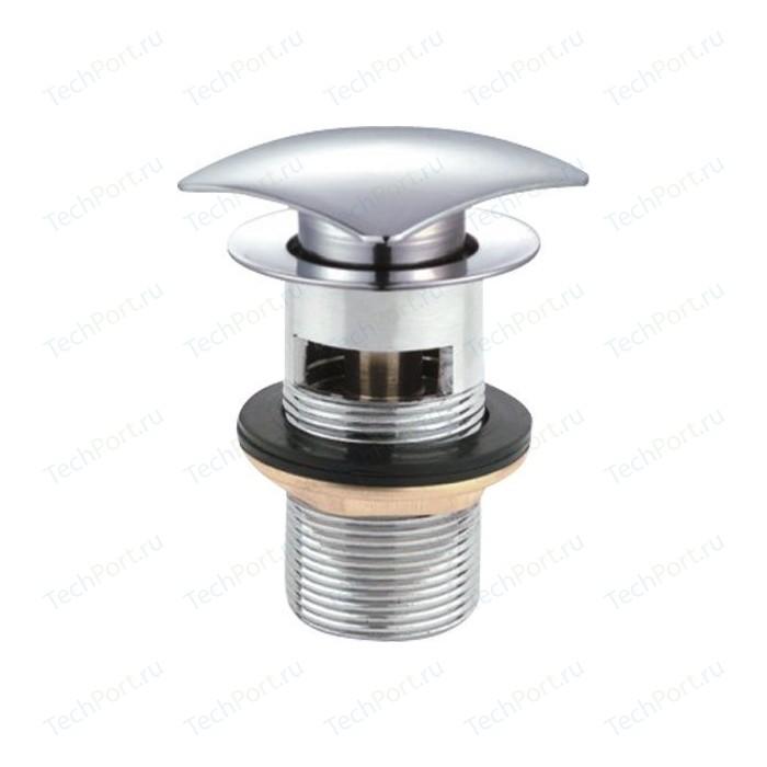 Донный клапан Cezares Click-clack с квадратной крышкой, хром (CZR-SCQ2-01)