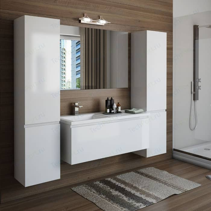 Мебель для ванной Эстет Даллас Люкс 110R правая, белая мебель для ванной эстет даллас люкс r 120 белый