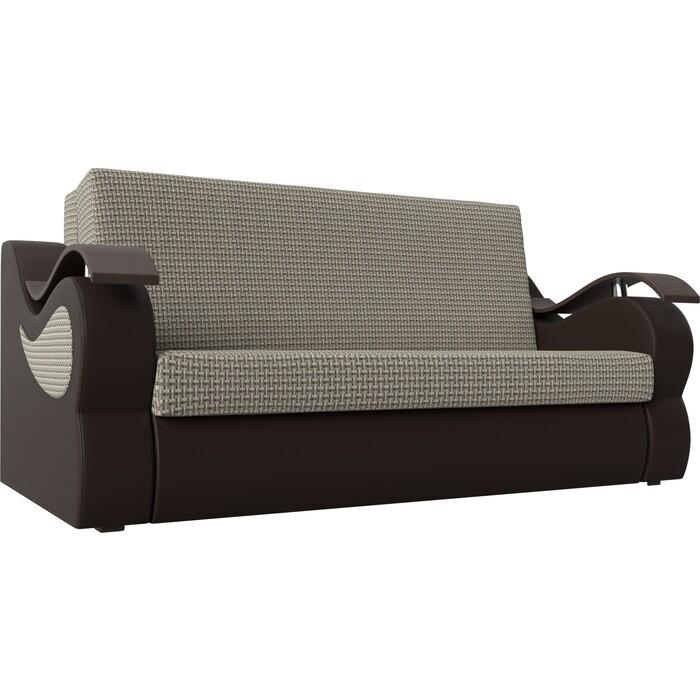 Прямой диван АртМебель Меркурий корфу 02 экокожа коричневый (140)