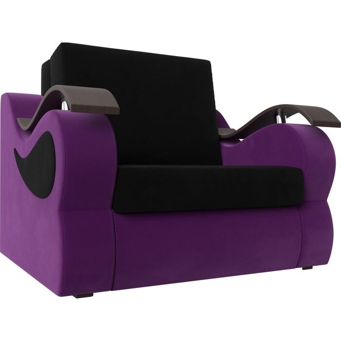 Фото - Прямой диван АртМебель Меркурий вельвет черный/фиолетовый (60) прямой диван артмебель меркурий вельвет фиолетовый экокожа черный 140