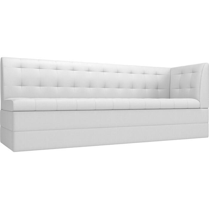 Фото - Кухонный угловой диван АртМебель Бриз экокожа белый правый угол кухонный угловой диван артмебель бриз экокожа белый левый угол