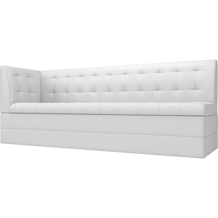 Фото - Кухонный угловой диван АртМебель Бриз экокожа белый левый угол кухонный угловой диван артмебель бриз экокожа белый левый угол
