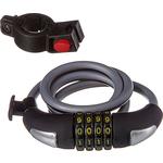 Купить Велосипедный замок STG TY557-1 трос спиральный кодовый (10х100см)технические характеристики фото габариты размеры