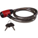 Купить Велосипедный замок трос спиральный с ключом Х66513 (15х80см) купить недорого низкая цена