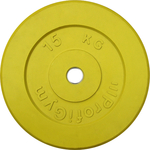 Купить Диск ProfiGym обрезиненный d 31 мм желтый 15,0 кг купить недорого низкая цена