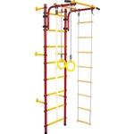 Купить Детский спортивный комплекс Юный Атлет Пристенный красныйтехнические характеристики фото габариты размеры