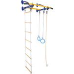 Купить Детский спортивный комплекс Юный Атлет Эконом (04013) синийтехнические характеристики фото габариты размеры
